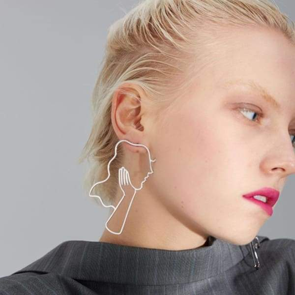 Chic Hollow Out Long Face Statement Earrings