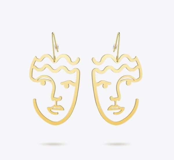 Classic Face Drop Earrings
