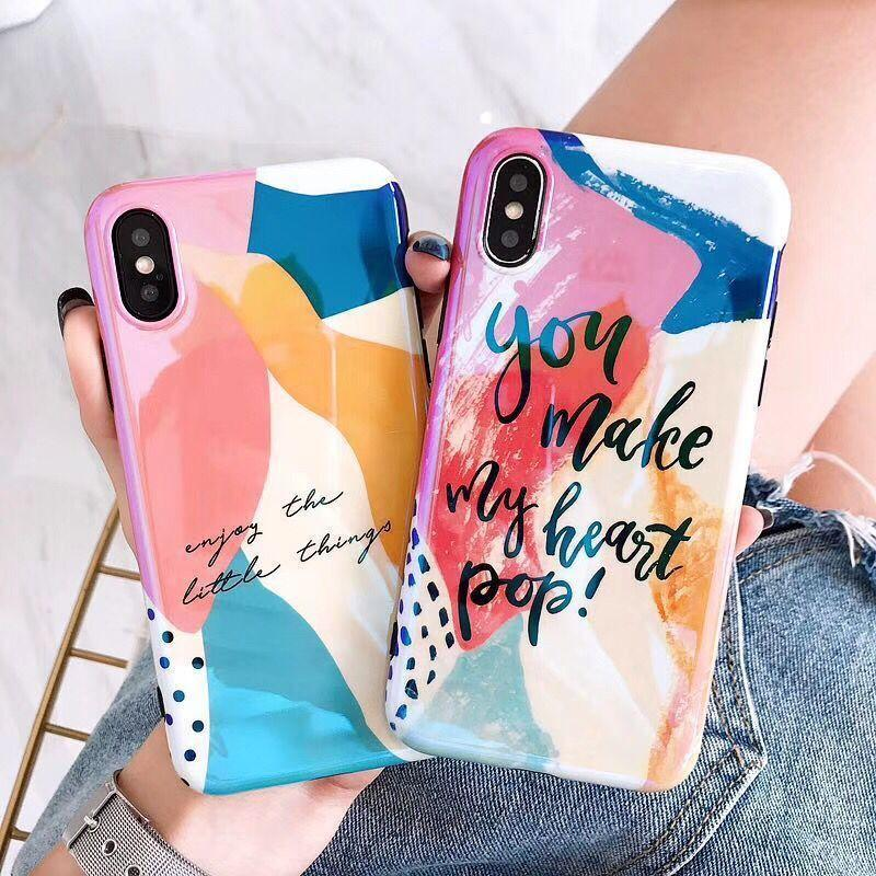 Colorful Art Graffiti Phone Case For iphone Glossy Cover Cases