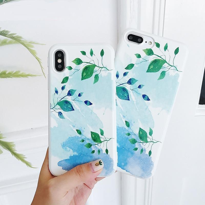 Colorful Leaf Phone Case For iphone Back Cover Cases