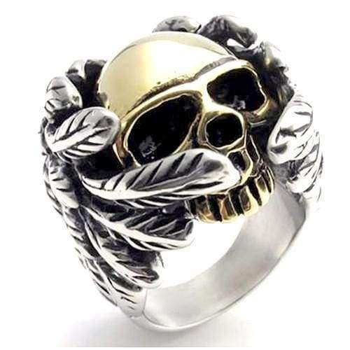 Cool 316L Stainless Steel Mens Fashion Motor Biker Skull ring Ring