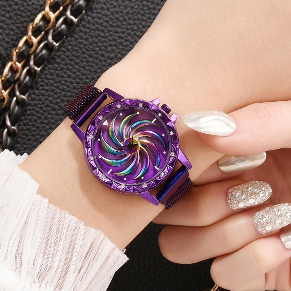 Creative Design Magnetic Bracelet Watches 360 Rotate Quartz Watch LABONNI