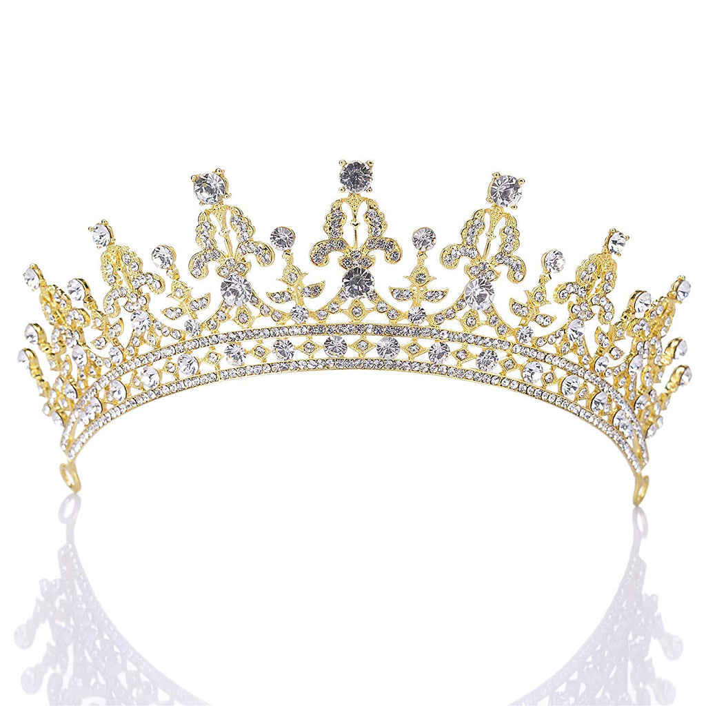 Princess Crown CZ Crystal Pageant Queen Tiara