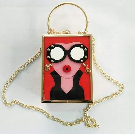 Cute Acrylic Cartoon Bags Women Fashion Girls Party Handbag Designer Box