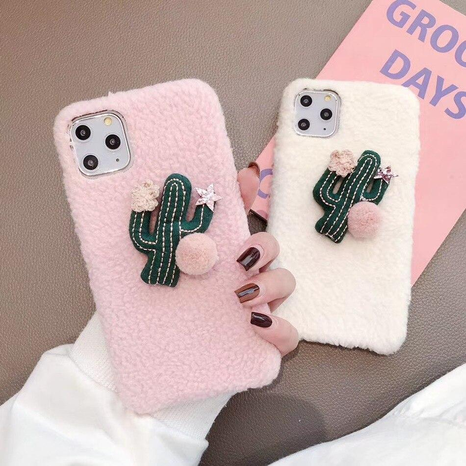 Cute Cactus Case for IPhone 11 Pro Max Christmas Warm Phone Cover Cases
