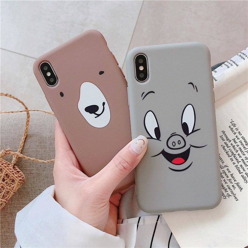 Cute Cartoon Phone Cases For iPhone X XR XS Max 8 7 6 6S Plus