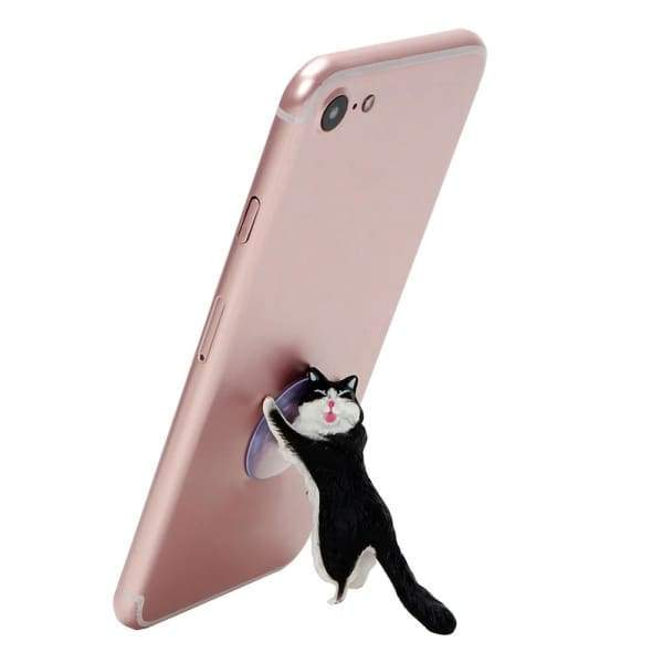 Cute Cat Mobile Phone Stand with Sucker Holder for Smartphone ipad Desktop Accessories