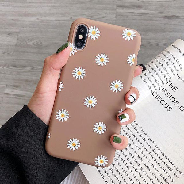 Cute Floral Cartoon Animal iPhone Case Candy Color Cover Phone Cases