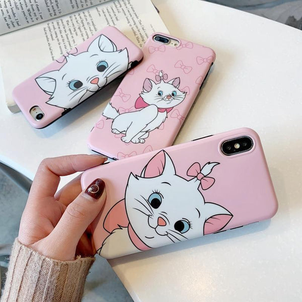 Cute Marie Cat Cartoon Case For iPhone Back Cover Phone Cases