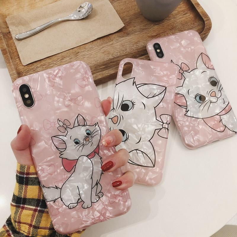Cute Marie Cat Cartoon Case iPhone Glossy Back Cover Fudas Phone Cases