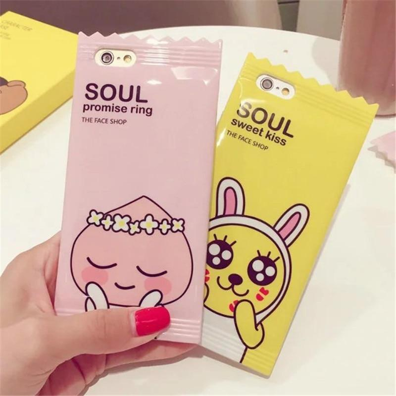 Cute Muzi Apeach 3D Candy Korean Cartoon Phone Case iPhone Cases
