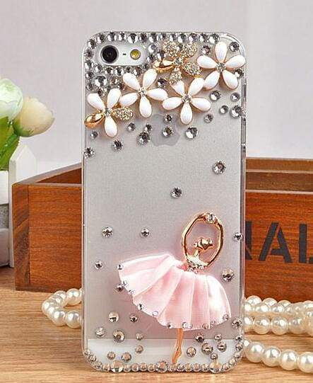 Cute Transparent Crystal For iPhone Case Clear Cell Phone Cover Cases