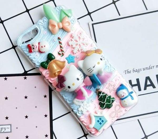 DIY Case for iPhone 3D Hello Kitty Cream Candy Back Cover Phone Cases