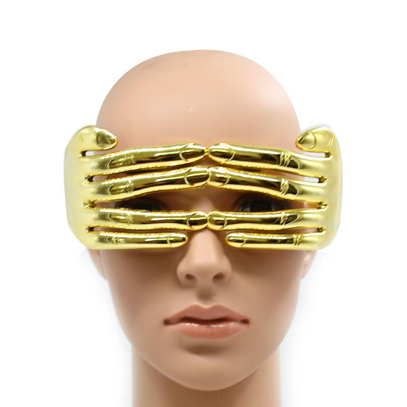 Extraordinary Funny Play Festival Party Gold Fingers Glasses