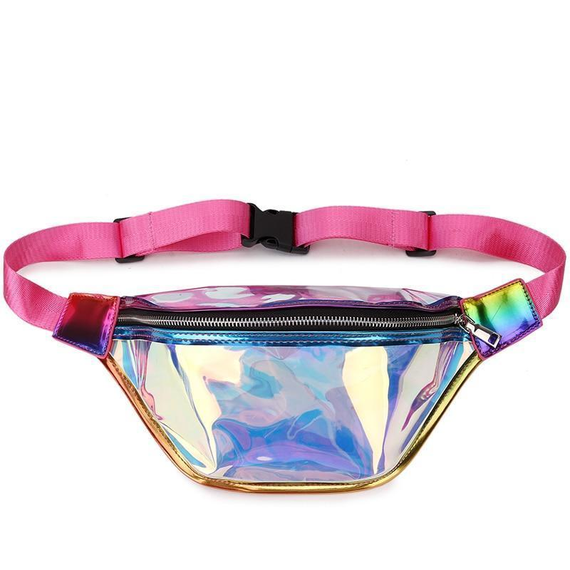 Fashion Fanny Pack Laser Transparent Waist Packs Bags