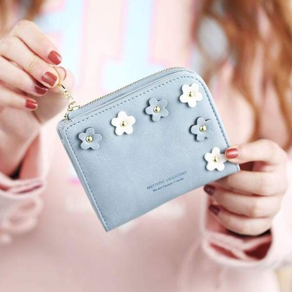 Fashion Flower Small Wallet For Women Card Holders