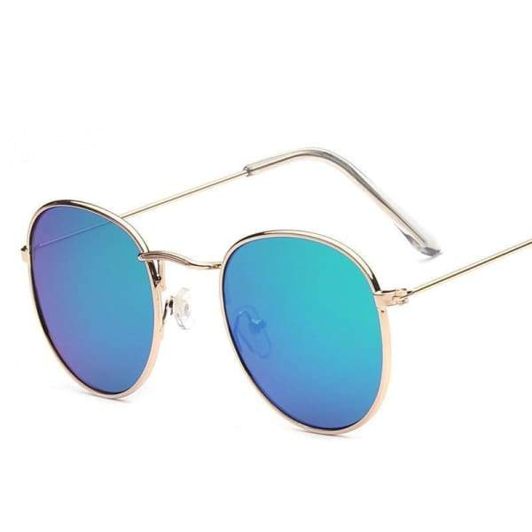 Fashion Metal Mirror Vintage Round Sunglasses