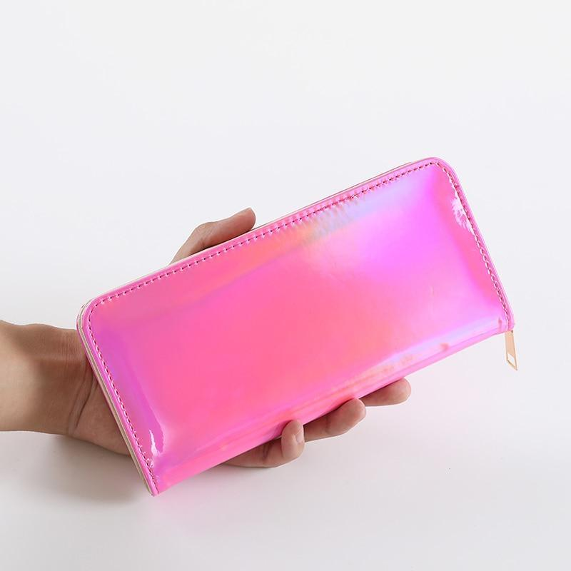 Fashion Women Holographic Long Wallet Laser Purse