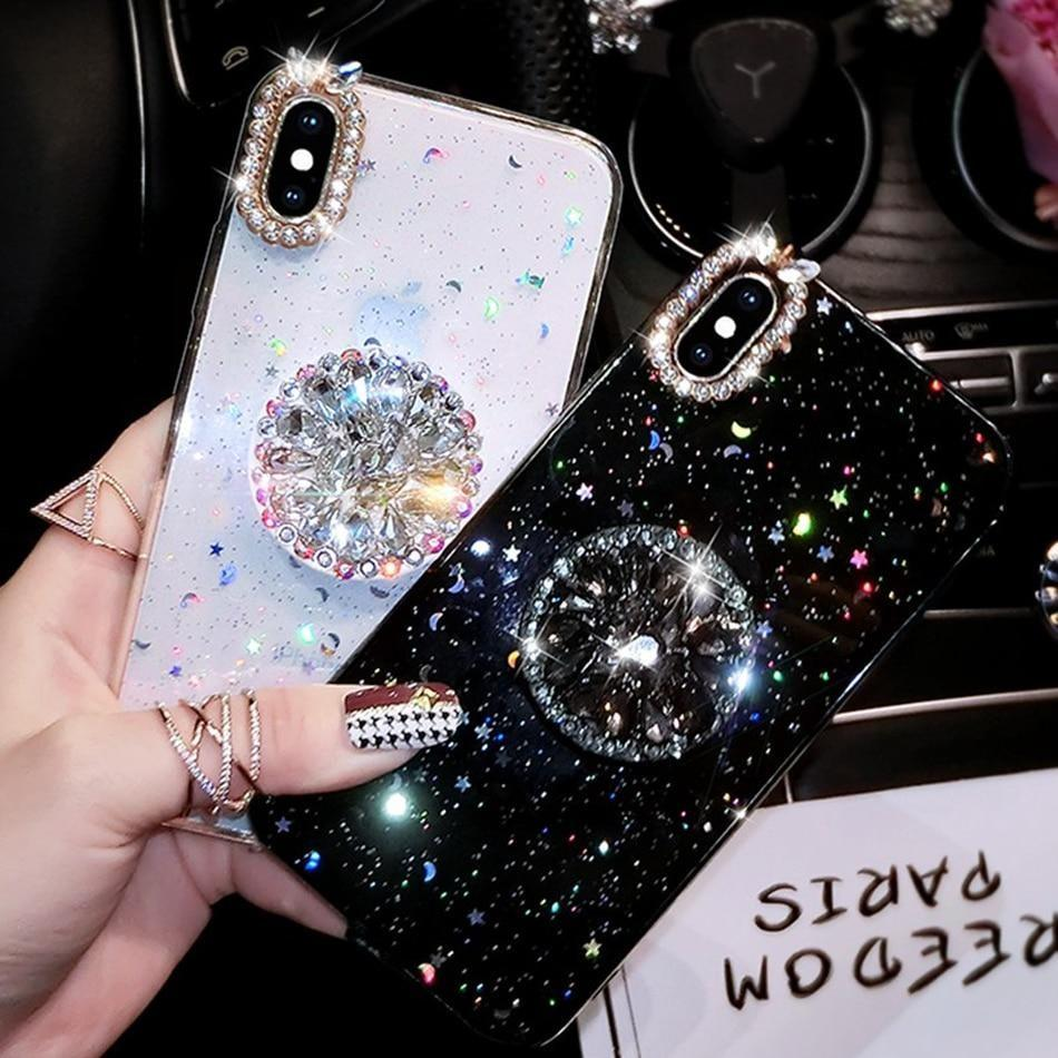 For iPhone Case Luxury Glitter Diamond Cover Phone Cases