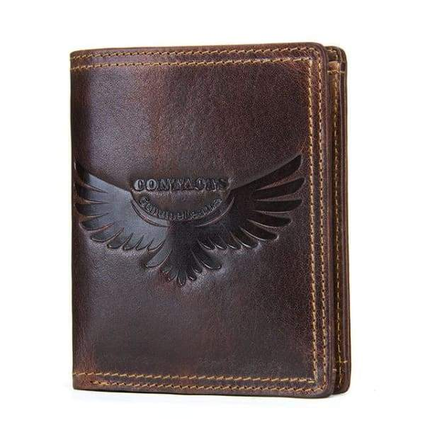 Genuine Leather Mens Wallets Vintage Cow Small Wallet