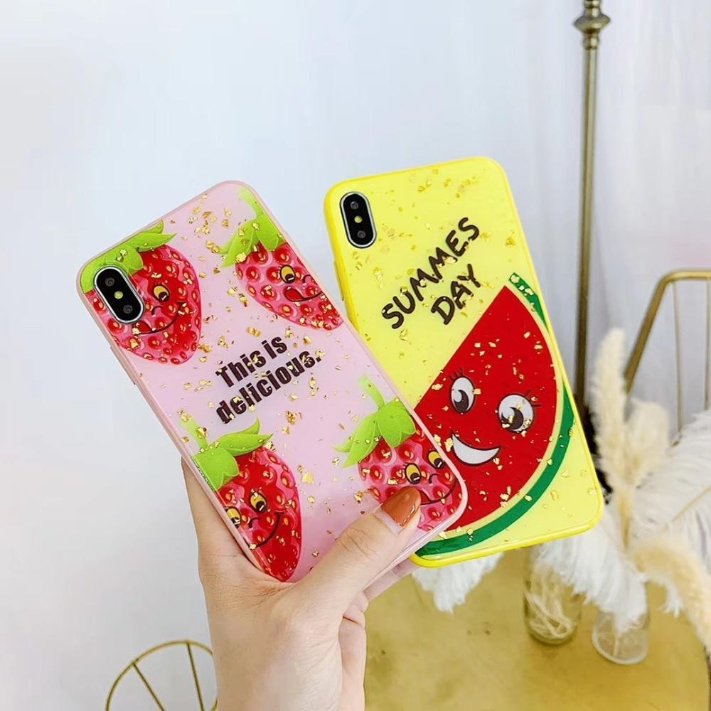 Glossy Cute Phone Cases Lovely Summer Fruits iphone Cover