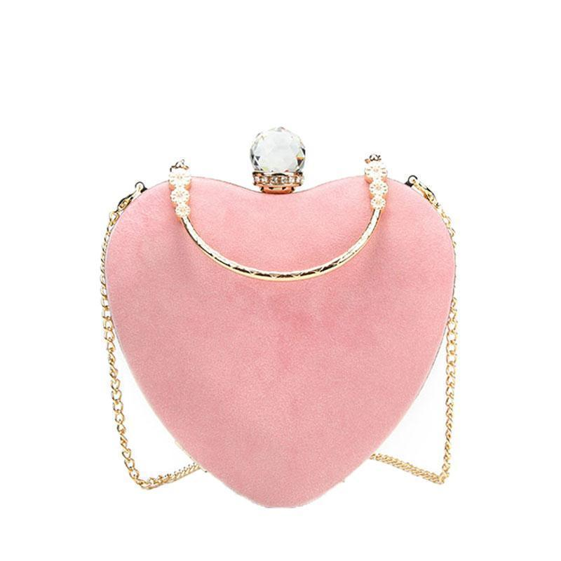Heart Shaped Diamonds Clutch Evening Bags