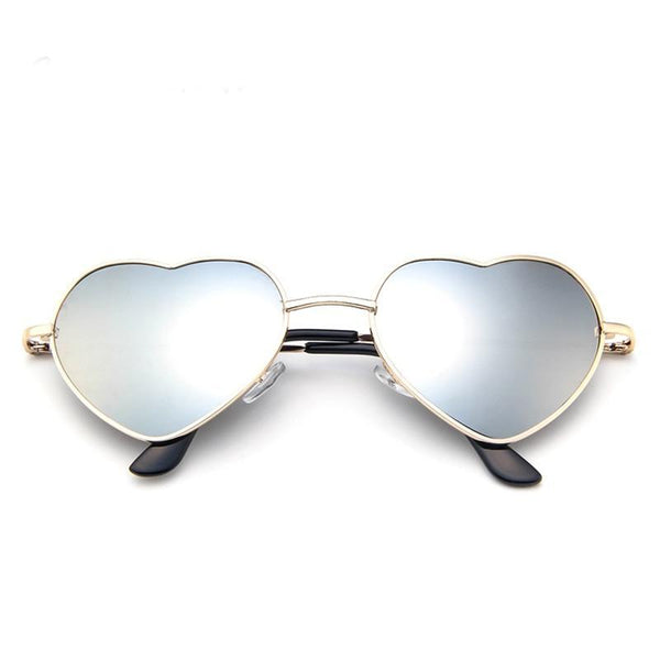 Heart Shaped Metal Frame Candy Women Sunglasses