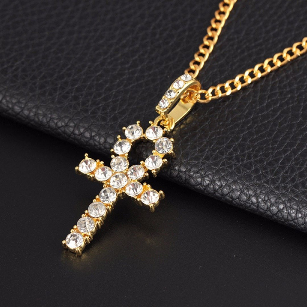 Hip Hop Stainless Steel Cross Pendant Necklace Charm Jewelry