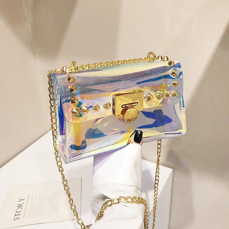 Holographic Laser Crossbody Bag Jelly Medium Shoulder Bags