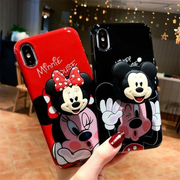IPhone 3D Cute Cartoon Mickey Minnie Case Cover Phone Cases
