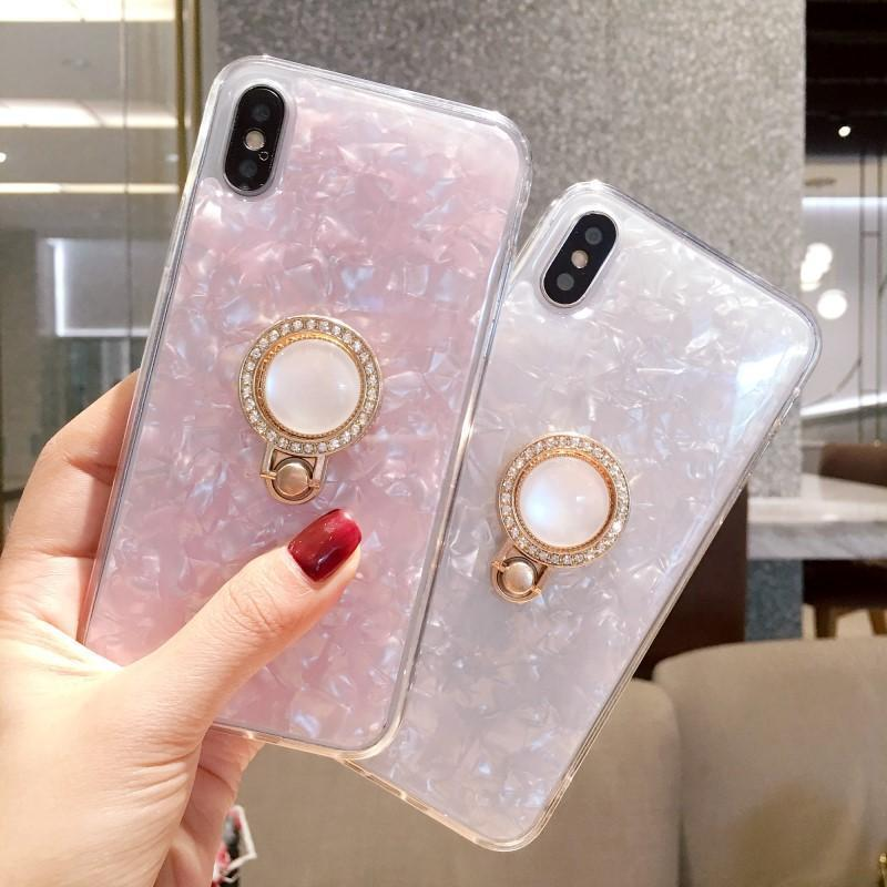 IPhone Glitter Marble Case With Stand Phone Cases