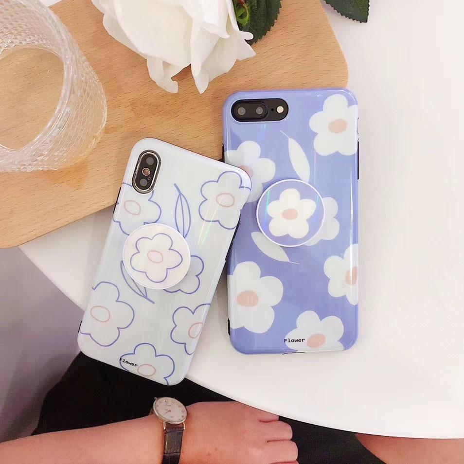 Laser Aurora Flower iPhone Case Cute Phone Cases and Holder