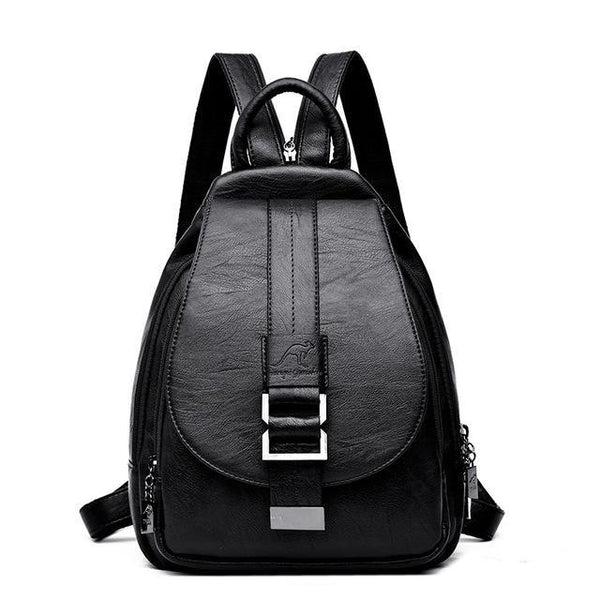 Leather Backpacks Vintage Women Shoulder Bag Sac a Dos Bags