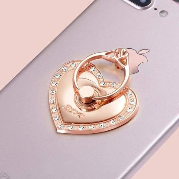 Love 360 Degree Finger Ring Mobile Phone Smartphone Stand Holder Accessories