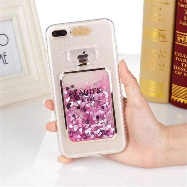 Luxury Bling Stars Dynamic Liquid Quicksand Clear Phone Case For iPhone Cases