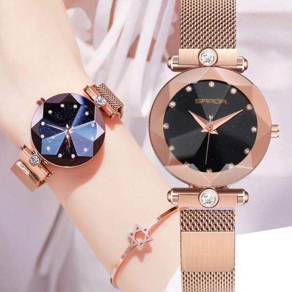 Luxury Magnetic Watch Women Starry Sky | Magnet Watches