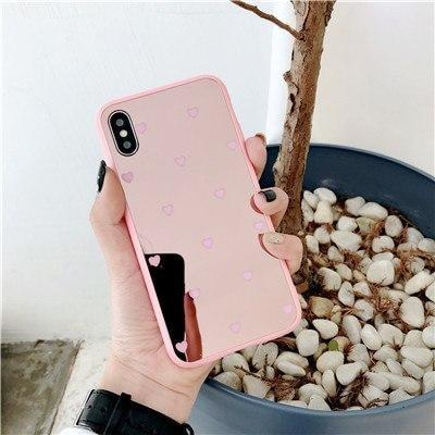 Luxury Mirror Small Love Heart Phone Case For iPhone Cases