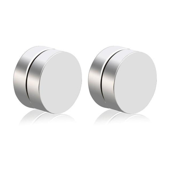 Magnetic Earrings Double-sided Round Men Fake Piercing