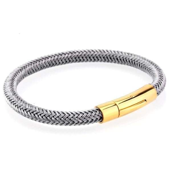 Men Bracelets 6mm Rope Chain Titanium Steel Bracelet