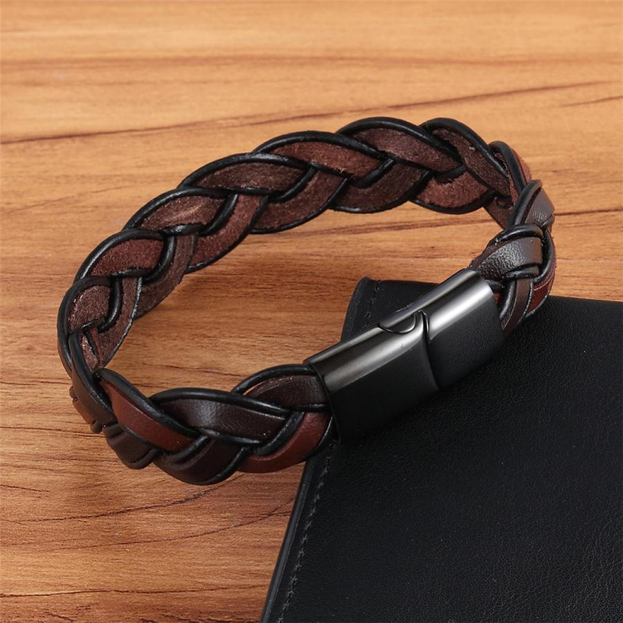 Men Fashion Braided Ethnic Leather Bracelet Bracelets
