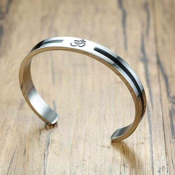 Mens Cuff Bangle Bracelet Stainless Steel Religion Jewelry Bangles