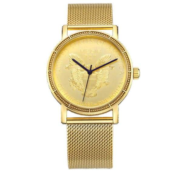 Mens Fashion Gold Quartz Wrist Watches watches