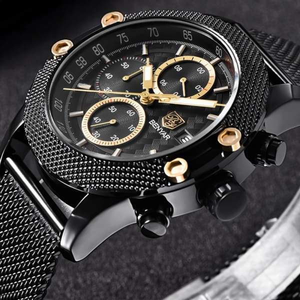 Mens Sport Chronograph Waterproof Fashion Luxury Brand Quartz Watches watch