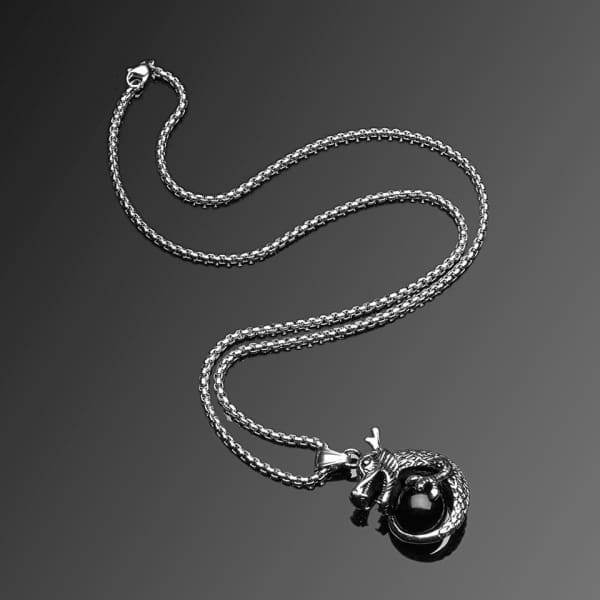 Mens Trendy Titanium Stainless Steel Chain Pendant Necklace Jewelry