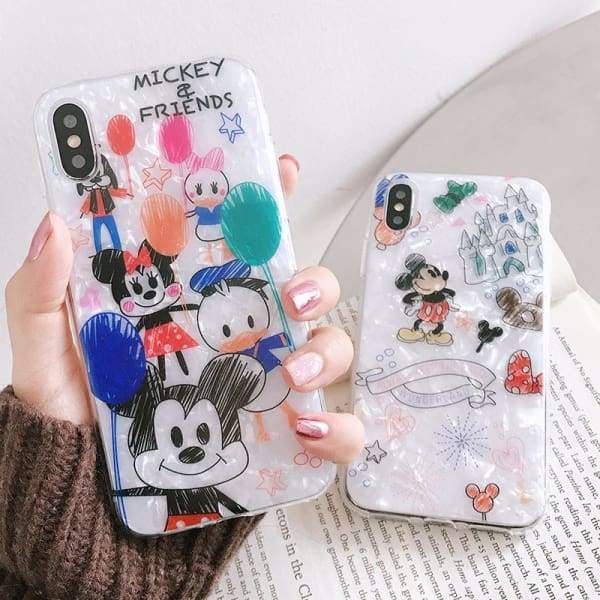Mickey Mouse Minnie Phone Case iPhone Glossy Cute Cover Cases