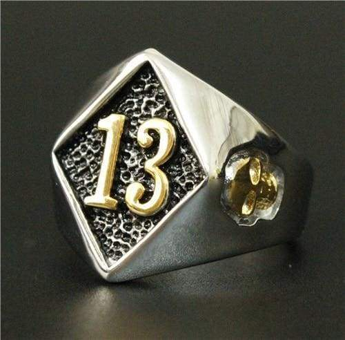 Motor Biker Lucky Number 13 Ring
