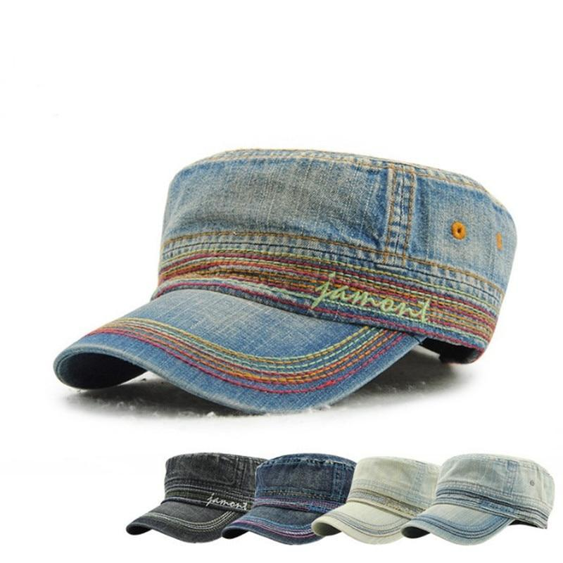 New Denim Adjustable Cap Men and Women Snapback Baseball Caps