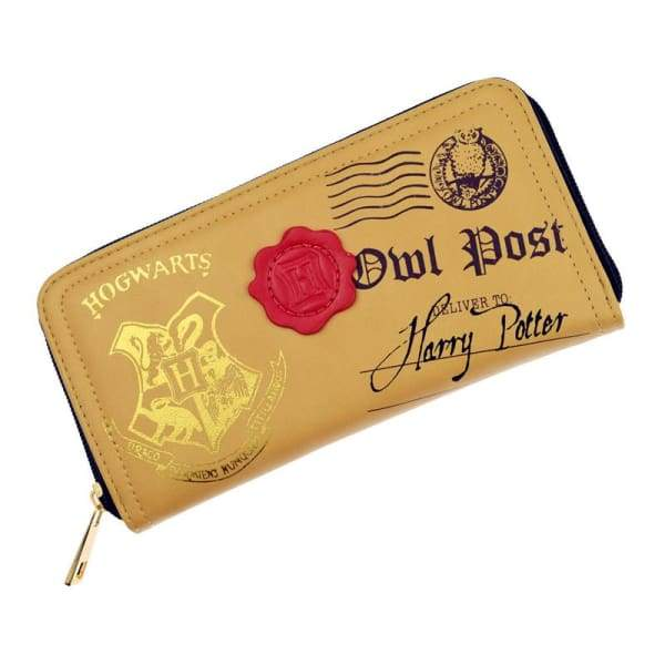 New Design Harry Potter Hogwarts Crest Letter Owl Post Zipper Wallet