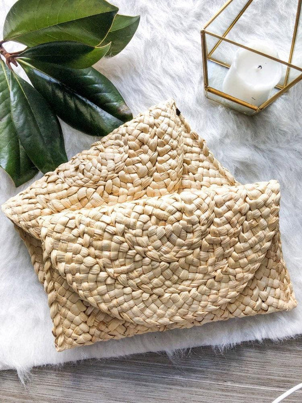New Fashion Lady Summer Retro Straw Knitted Clutch Bags