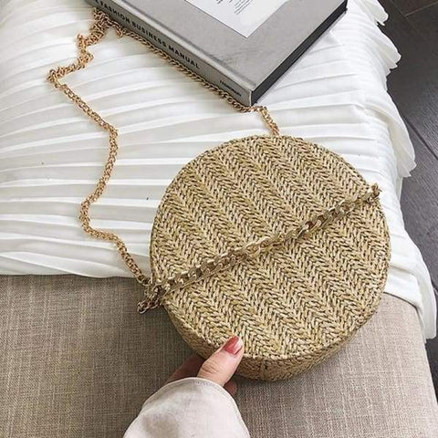 New Summer Crossbody Bags Woven Round Bag